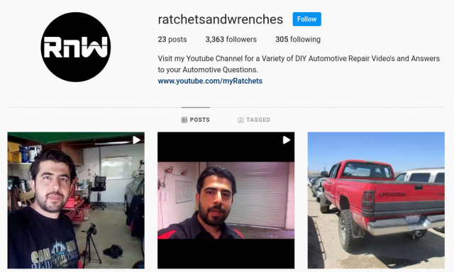 ratchets and wrenches instagram page social