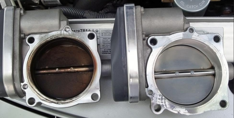 throttle body before and after induction service is necessary folks!