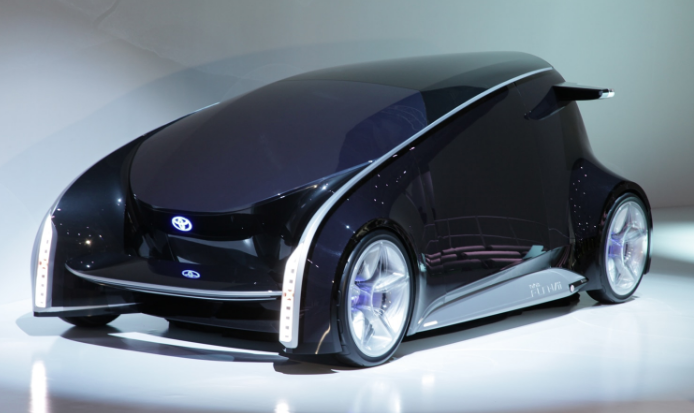 Toyota Fun-Vii concept car LED display over entire body paneling
